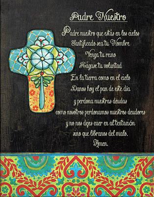 The Lord's Prayer Print by Jo Moulton