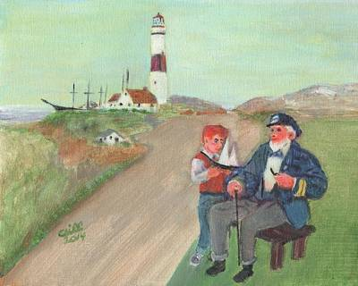 New England Lighthouse Painting - The Lore Of The Sea by Cliff Wilson