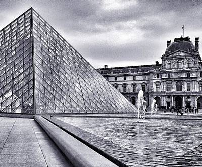 Louvre Mixed Media - The Louvre Pyramid by CD Kirven