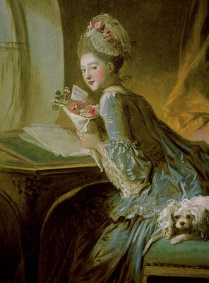 The Love Letter Print by Jean Honore Fragonard