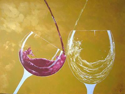 The Love Of Wine Original by Owen Jones