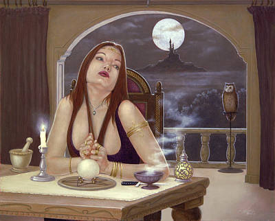 The Love Spell Print by John Silver