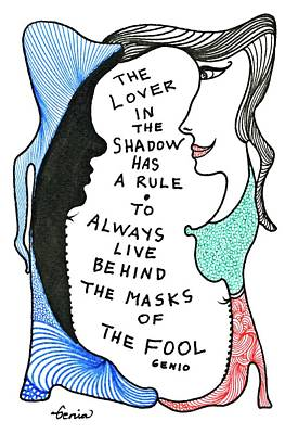 Conscious Drawing - The Lover In The Shadow... by Genia ggXpress