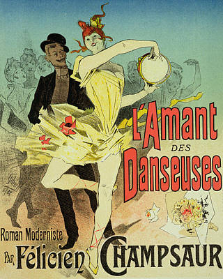 Novel Drawing - The Lover Of Dancers Poster by Jules Cheret