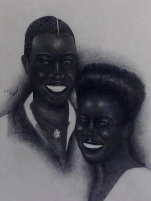 Steven Taylor Drawing - The Lovers by Steven Taylor