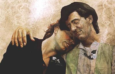 Merging Painting - The Lovers by Yoyo Van der Kooi
