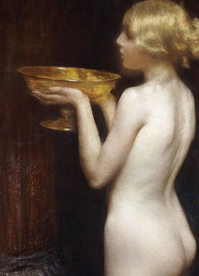 Used Painting - The Loving Cup by Janet Agnes Cumbrae-Stewart