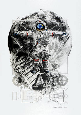 The Lunarian Man Print by Mark Bray