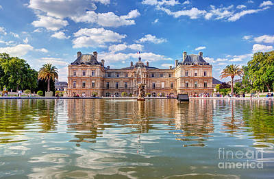 Relaxation Photograph - The Luxembourg Palace In The Jardin Du Luxembourg Paris France by Michal Bednarek