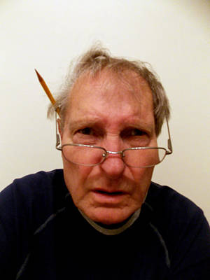 Self Portrait Photograph - The Mad Photo Editor by Skip Willits