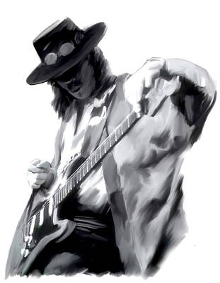 Stevie Painting - The Maestro   Stevie Ray Vaughan by Iconic Images Art Gallery David Pucciarelli