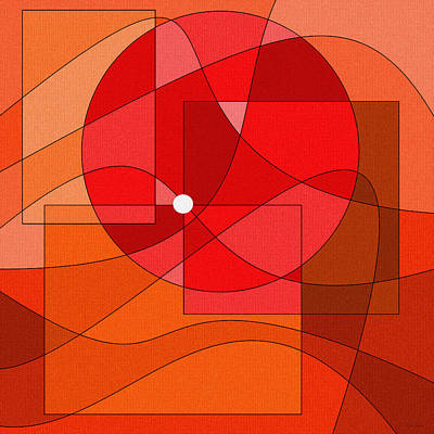 Red Abstract Digital Art - The Maestro by Val Arie
