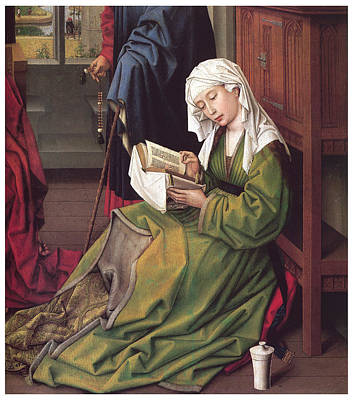 The Magdalen Reading Print by Rogier Van Der Weyden
