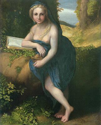 The Magdalene, C.1518-19 Oil On Canvas Print by Correggio