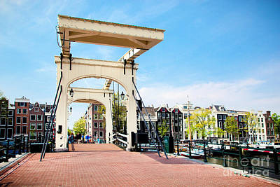 Structure Photograph - The Magere Brug Skinny Bridge Amsterdam by Michal Bednarek