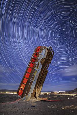 Star Trails Photograph - The Magic Bus by Rick Berk