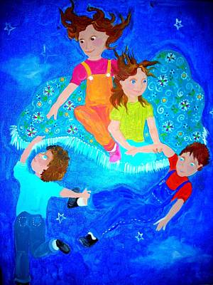Magic Carpet Ride Painting - The Magic Carpet Ride by Jean Jackson