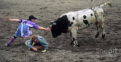 Bull Riders Photograph - Rodeo The Magic Touch by Bob Christopher