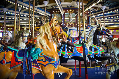 Antique Carousel Photograph - The Magical Machine - Carousel by Colleen Kammerer