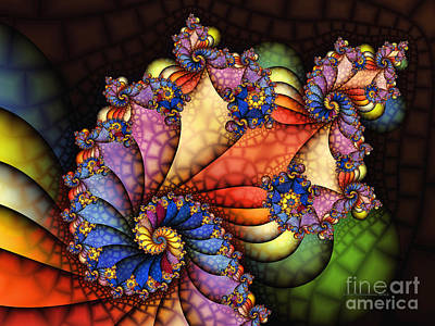 Geometric Abstraction Digital Art - The Maharajahs New Hat-fractal Art by Karin Kuhlmann