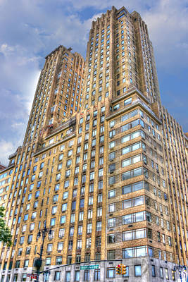 The Majestic Building At Central Park West Print by Randy Aveille