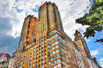 The Majestic Building Central Park West Print by Randy Aveille