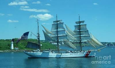 The Majestic Us Coast Guard Print by John Malone