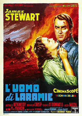 The Man From Laramie, Aka Luomo Di Print by Everett