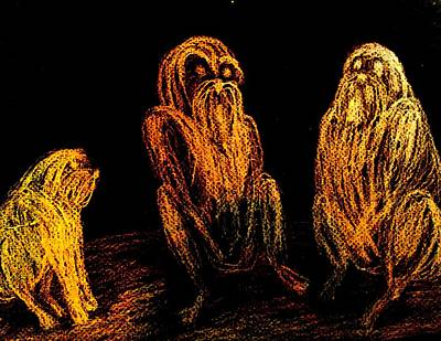 Enabled Drawing - The Wise Man In The Middle Of The Group  by Hilde Widerberg