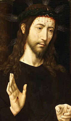 The Man Of Sorrows. Christ Crowned With Thorns Print by Domenico Ghirlandaio