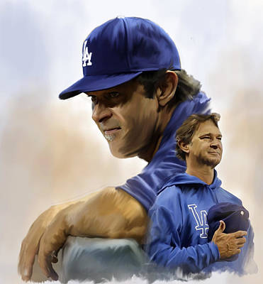 The Manager  Don Mattingly Original by Iconic Images Art Gallery David Pucciarelli
