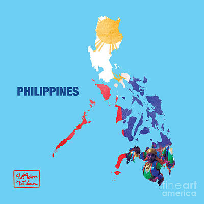 The Map Of Philippines Print by To-Tam Gerwe