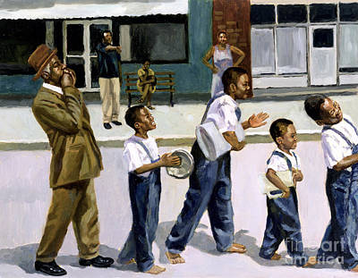 Black Artist Painting - The Marching Band by Colin Bootman