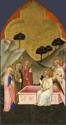 Sepulchre Painting - The Maries At The Sepulchre by Jacopo di Cione and Workshop