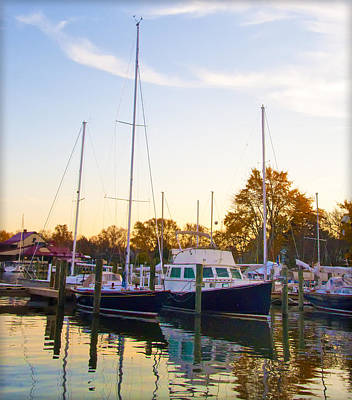 The Marina At St Michael's Maryland Print by Bill Cannon