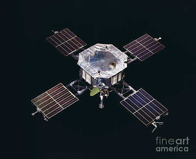 Interplanetary Space Photograph - The Mariner 5 Spacecraft by Stocktrek Images