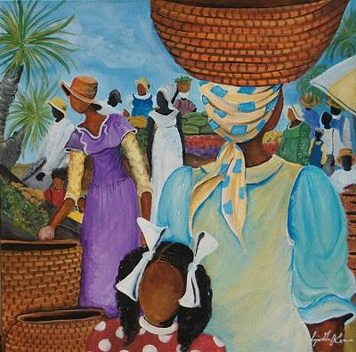 The Market Place Print by Sonja Griffin Evans