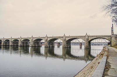 Photograph - The Market Street Bridge - Harrisburg Pa by Bill Cannon