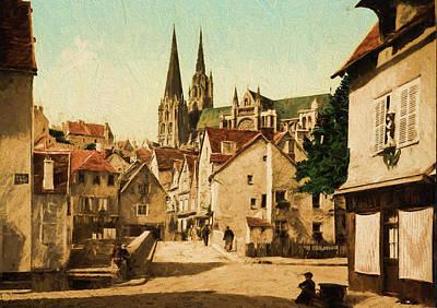 Historic Painting - The Market Street by John K Woodruff