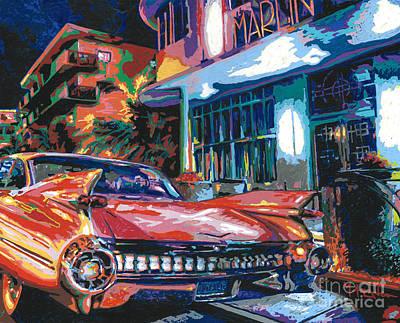 Cadilac Painting - The Marlin Hotel by Maria Arango