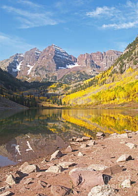 The Maroon Bells Near Aspen Colorado Print by Alex Cassels