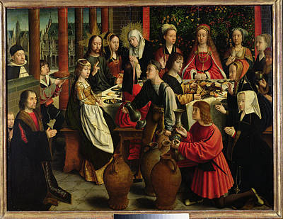 The Marriage Feast At Cana Print by Gerard David