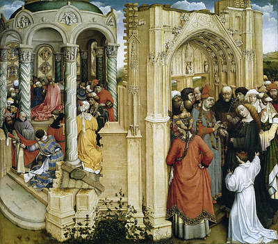 Robert Campin Painting - The Marriage Of The Virgin by Robert Campin