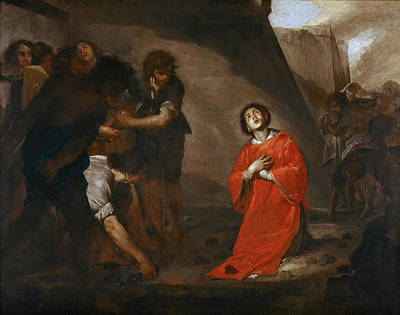 Bernardo Cavallino Painting - The Martyrdom Of St Stephen by Bernardo Cavallino