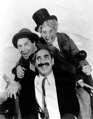 Groucho Marx Photograph - The Marx Brothers - A Night At The Opera by Georgia Fowler