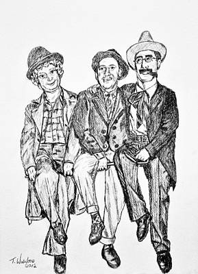 Slapstick Drawing - The Marx Brothers by Tricia Winwood