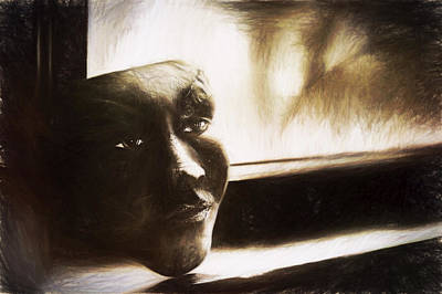 Glare Photograph - The Mask Sketch by Scott Norris