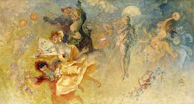 The Masked Ball Print by Jules Cheret