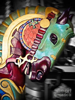 Manipulation Photograph - Carousel - The Masked Warrior by Colleen Kammerer