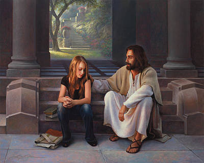 Steps Painting - The Master's Touch by Greg Olsen